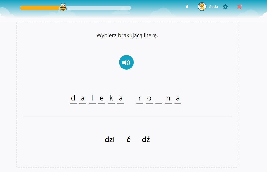 Uzupełnianie głosek p/b, t/d, s/z, ż/sz, dź/ć i innych (upodobnienia pod względem dźwięczności)