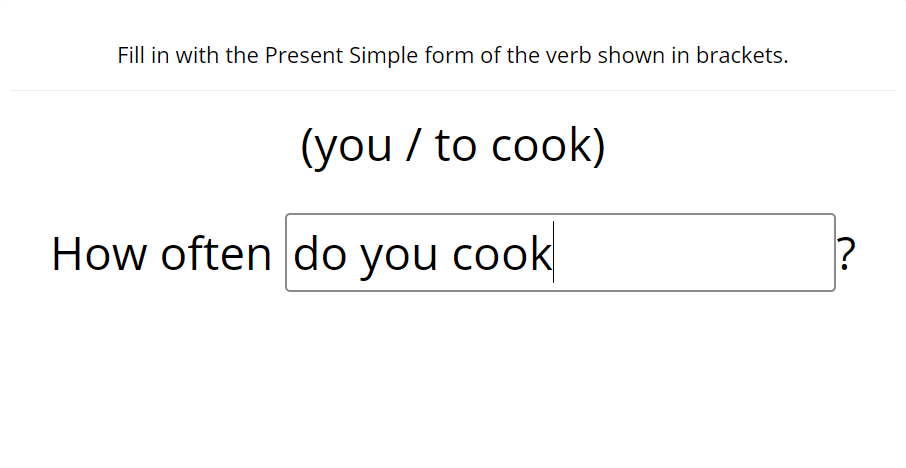 Present tenses - fill in the blank